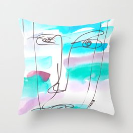7   One Line Drawing    190415   Throw Pillow