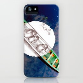 Travel with Penguins at Amazon iPhone Case