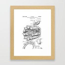 Jet Engine: Frank Whittle Turbojet Engine Patent Framed Art Print