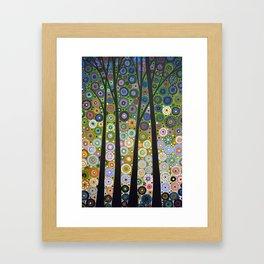 Abstract Art Landscape Original Painting ... Falling Light Framed Art Print