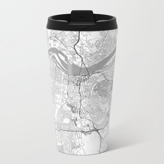 Louisville Map Line Metal Travel Mug