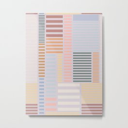 Modern Skyline Stripe Metal Print