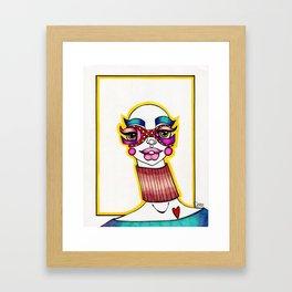 JennyMannoArt Colored Illustration/Sheila Framed Art Print