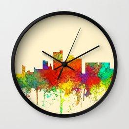 Lubbock, Texas Skyline - SG Wall Clock