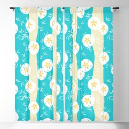 Beachy Sand Dollars + Sandpipers Pattern Blackout Curtain
