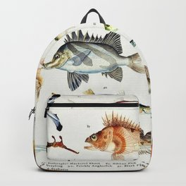Illustrated Colorful Southern Pacific Exotic Game Fish Identification Chart No. 2 Backpack