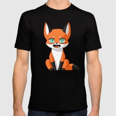 Fox Cub Black SMALL Mens Fitted Tee
