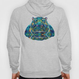 Hippopotamus Art - Happy Hippo - By Sharon Cummings Hoody