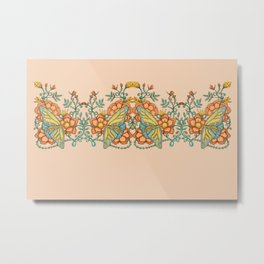 Butterflies over Garden of Thorns and Roses Metal Print