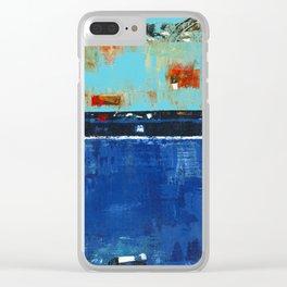 Dress Blues Clear iPhone Case
