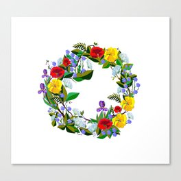 A Wreath of Wildflowers from the South Canvas Print