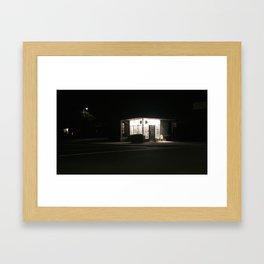 night place Framed Art Print