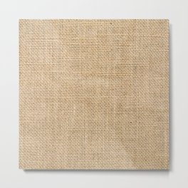 Burlap Fabric Metal Print