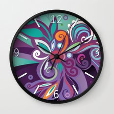 Floral curves of Joy Wall Clock