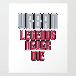 Urban Legends Never Die Football Ohio Pride Art Print