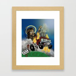Hot-roddin' Jesus Framed Art Print