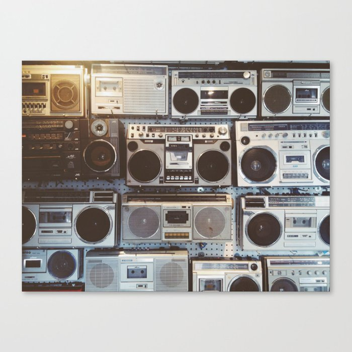 Boom boxes Canvas Print by briannedaigle