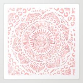 Blush Lace Art Print
