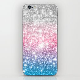 Galaxy Sparkle Stars Cotton Candy iPhone Skin