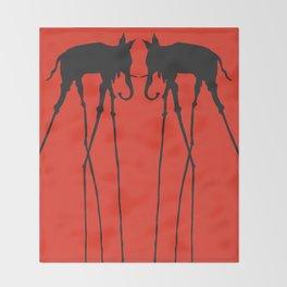 Salvador Dali Elephants Throw Blanket
