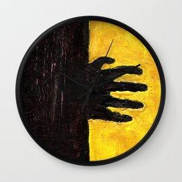The Black Hand Wall Clock