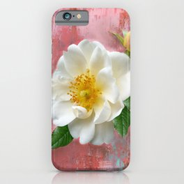 Magnolias on Pink iPhone Case