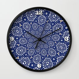 Bleu Gyre Royale Wall Clock
