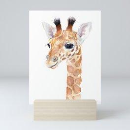 Baby Giraffe Cute Animal Watercolor Mini Art Print