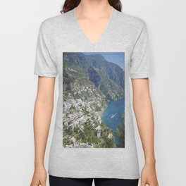 Photo seascape Amalfi Coast Italy Unisex V-Neck