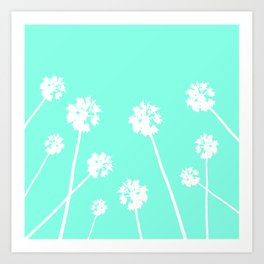 Palms in the Sky Art Print