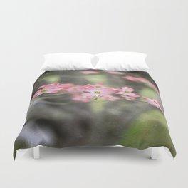 Pink Dogwood Blossoms Duvet Cover