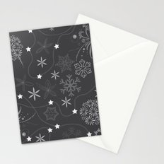 Stars on a string with snowflake and fireworks Stationery Cards