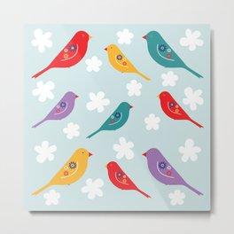 Birds For Happiness Metal Print