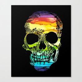 Rainbow Boho Skull I Canvas Print