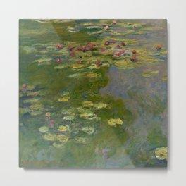 "Claude Monet ""Water Lilies"" (15a) Metal Print"