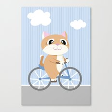 Mobile series bicycle cat Canvas Print