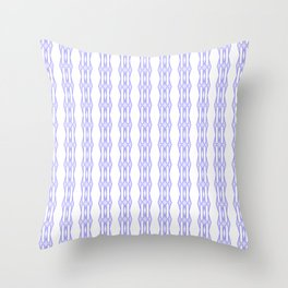 Purple Minimalist Stitch Design Throw Pillow