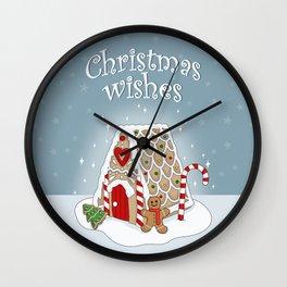 Gingerbread house Wall Clock