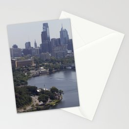 philly view from the zoo balloon Stationery Cards