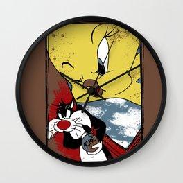 Beware The Songbird Wall Clock