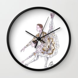 Marianela Nunez and Vadim Muntagirov in Sleeping Beauty pas de deux Wall Clock