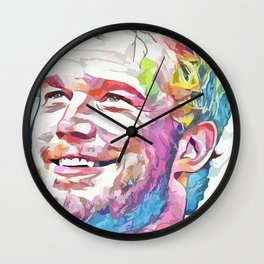 Chris Pratt (Creative Illustration Art) Wall Clock