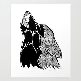 Wolf Illustration Art Print