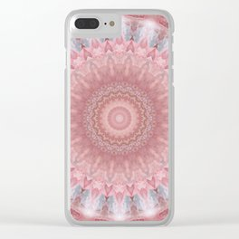 Mandala pink balance Clear iPhone Case