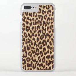 Leopard Print Clear iPhone Case