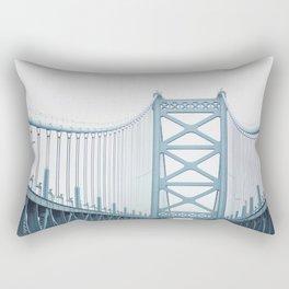 The Ben Franklin Bridge Rectangular Pillow