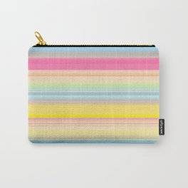Pink Spring Stripes Carry-All Pouch