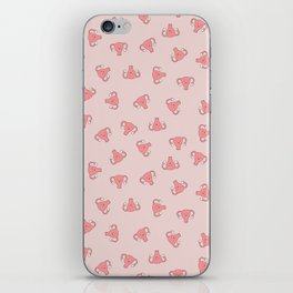 Crazy Happy Uterus in Pink, small repeat iPhone Skin