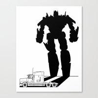 optimus prime Canvas Prints featuring Optimus Prime by offbeatzombie