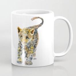 Baby Jaguar Watercolor Painting Coffee Mug